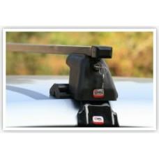 Багажник АМОС (стальные дуги) для HONDA Civic Hatchback 14- 5дв. ГЛАДКАЯ КРЫША