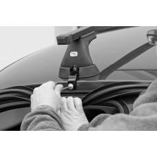 Багажник АМОС (стальные дуги) для KIA Spectra Sedan  01-03 3дв. ГЛАДКАЯ КРЫША