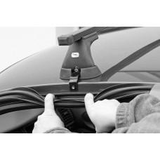 Багажник АМОС (стальные дуги) для SKODA Rapid Hatchback 13- 4дв. ГЛАДКАЯ КРЫША