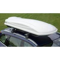 """Автобокс на крышу  """"AMOS"""" TRAVELPACK 440 белый."""