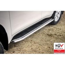DLC150-R1348-R ПОРОГИ ИЗ НЕРЖАВЕЮЩЕЙ СТАЛИ (Toyota Land Cruiser 150 2013 -)